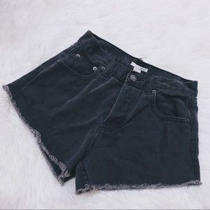 Forever 21 Black High Waisted Shorts Size 25 Small